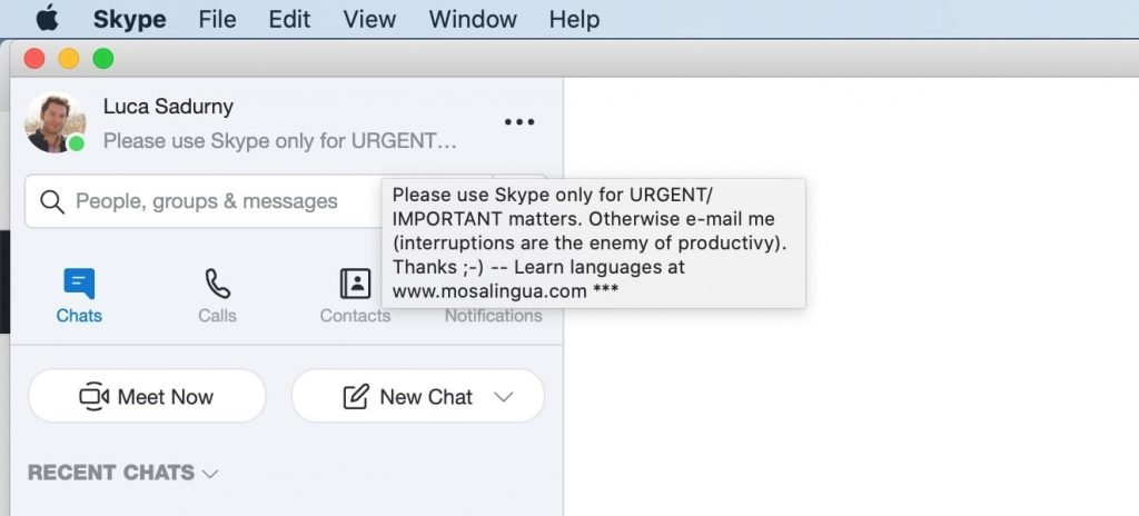 Come mantenere la concentrazione con un semplice trucchetto da usare su Skype e simili...